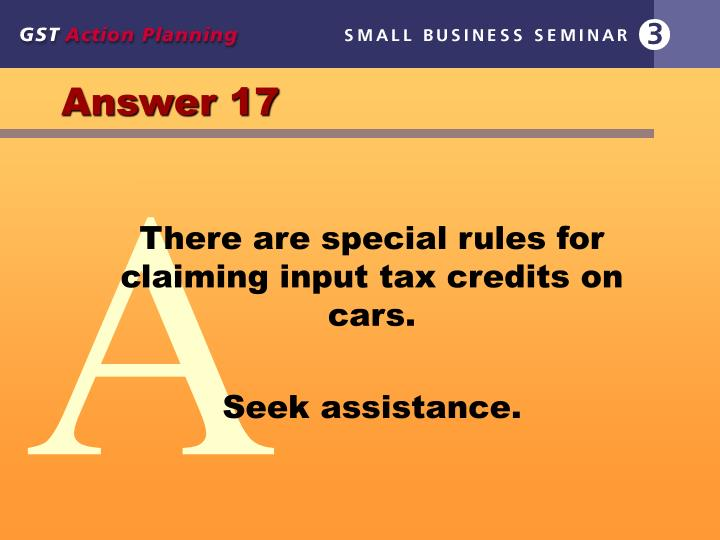 Answer 17