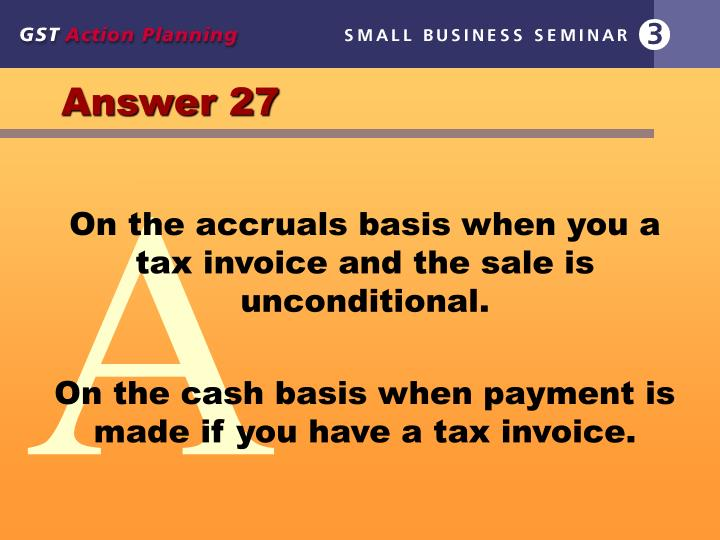 Answer 27