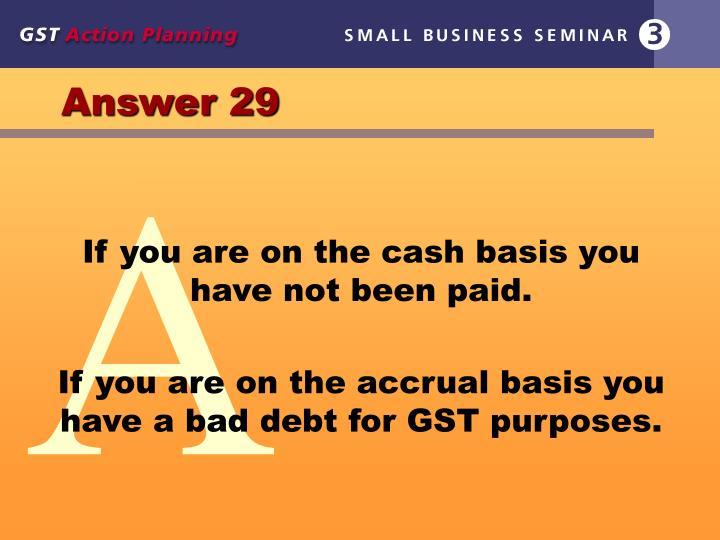 Answer 29