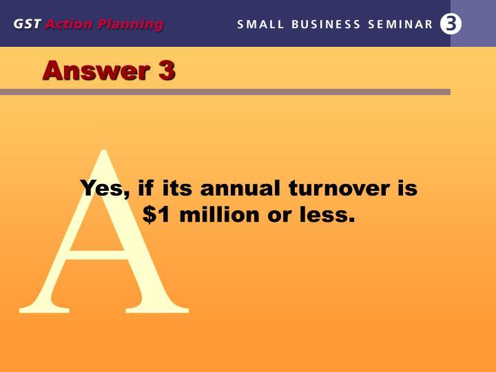 Answer 3