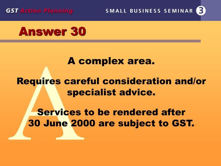 Answer 30