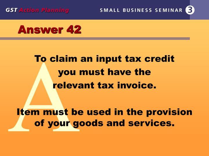 Answer 42