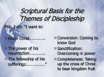 scriptural basis for the themes of discipleship