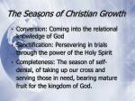 the seasons of christian growth
