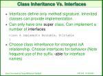 class inheritance vs interfaces