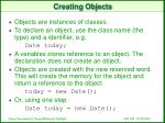 creating objects