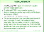 the classpath