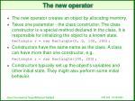 the new operator