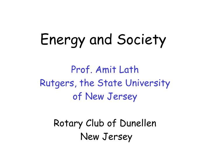 energy and society n.