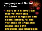language and social structure