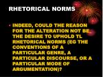 rhetorical norms