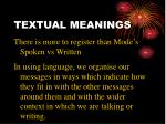 textual meanings