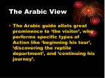 the arabic view