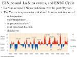 el nino and la nina events and enso cycle
