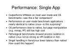 performance single app