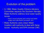evolution of the problem