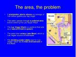 the area the problem