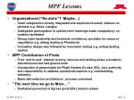 mpf lessons