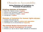 obstacles to accountability6