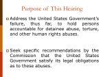 purpose of this hearing