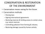 conservation restoration of the environment
