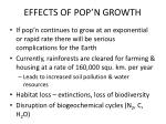 effects of pop n growth