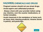 hazards chemicals and drugs