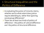i structural inequalities and the politics of difference