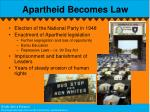 apartheid becomes law