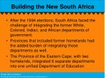 building the new south africa