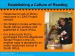 establishing a culture of reading