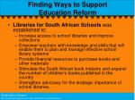 finding ways to support education reform