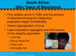 south africa 350 years of resistance
