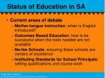 status of education in sa1