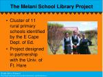 the melani school library project