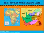 the province of the eastern cape