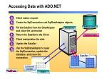 accessing data with ado net