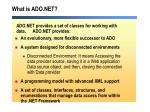 what is ado net