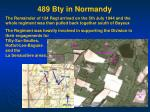 489 bty in normandy