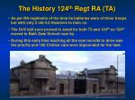 the history 124 th regt ra ta1