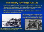 the history 124 th regt ra ta2