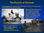 the pursuit of rommel