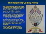 the regiment comes home