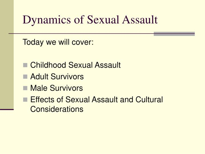 dynamics of sexual assault n.