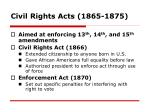 civil rights acts 1865 1875