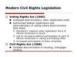 modern civil rights legislation1