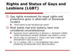 rights and status of gays and lesbians lgbt