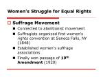 women s struggle for equal rights