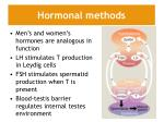 hormonal methods
