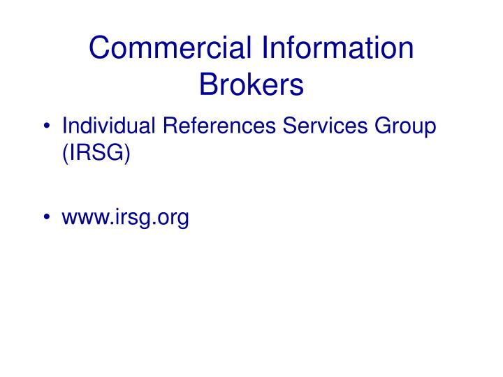 Commercial Information Brokers